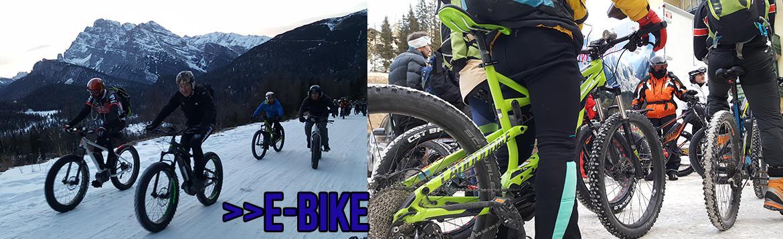 accompagnamento escursioni e-bike su tutti i terreni